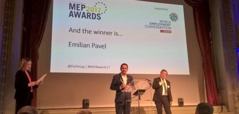 Tanarul europarlamentar oradean a fost premiat la Gala MEP Awards 2017