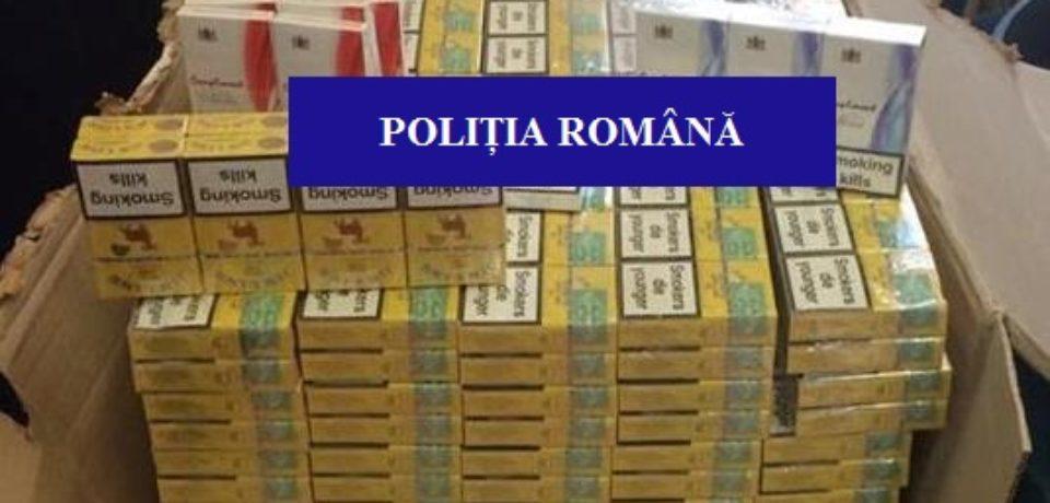 Razie a Politiei in Pietele din Oradea. Au fost cofiscate zeci de mii de tigarete nemarcate