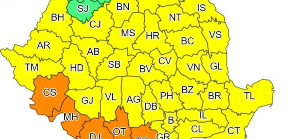 Atenţionare meteorologică: cod galben de caniculă, două zile, în Crişana