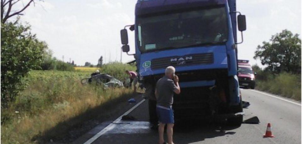 Un grav accident de circulatie a paralizat traficul pe DN79, in Bihor