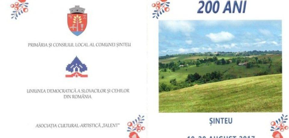 Sărbătoarea slovacilor la Şinteu. 200 de ani în Nova Huta. Comunicat