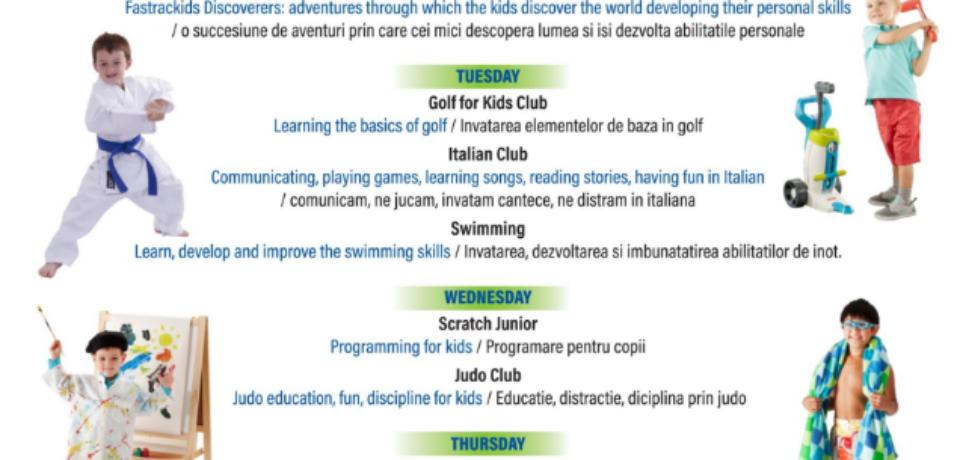 International School of Oradea organizează activitati extra curriculare pentru copii. Comunicat