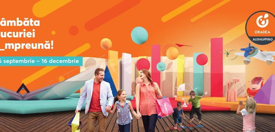 Centrul Comercial Aushopping Oradea declara oficial Sambata ziua bucuriei! Comunicat