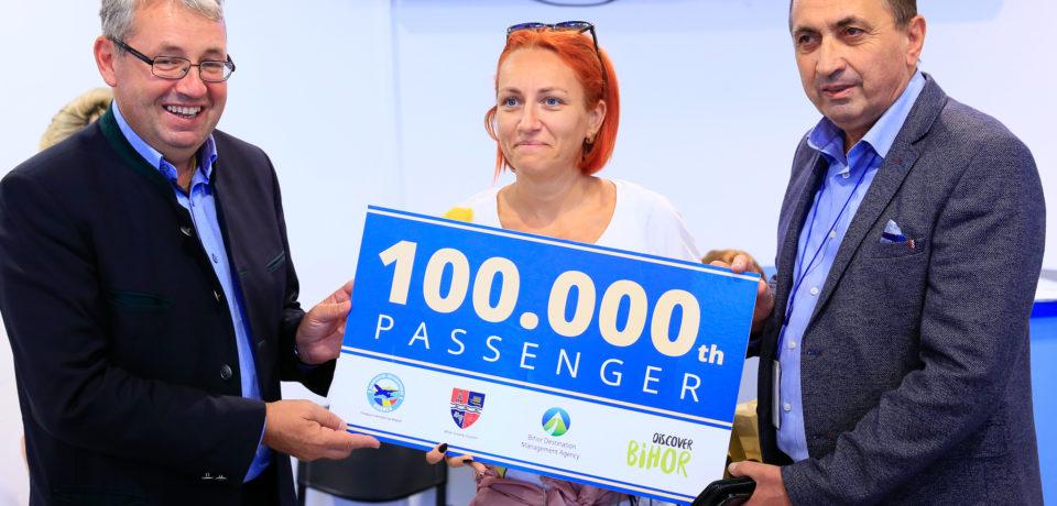 Surpriză pe Aeroport: a fost sărbătorit pasagerul cu numărul 100.000