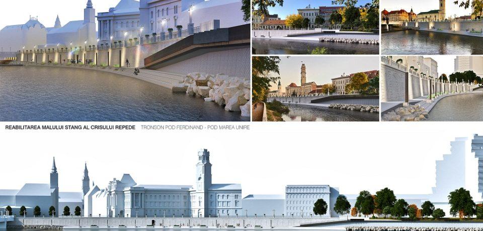 Un nou proiect de reabilitare a malului stâng al Crișului Repede, pe tronsonul cuprins între Podul Sf. Ladislau și Podul Centenarului