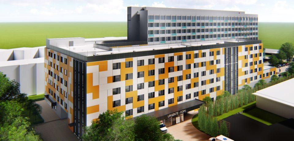 Un nou spital in Oradea. Cum arata viitorul corp cu specialitati pediatrice de la Spitalul Municipal. Foto