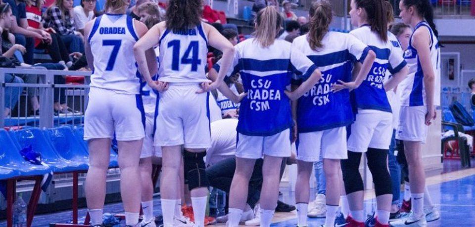 Echipa de baschet feminin CSU CSM Oradea a învins Rapid, la București