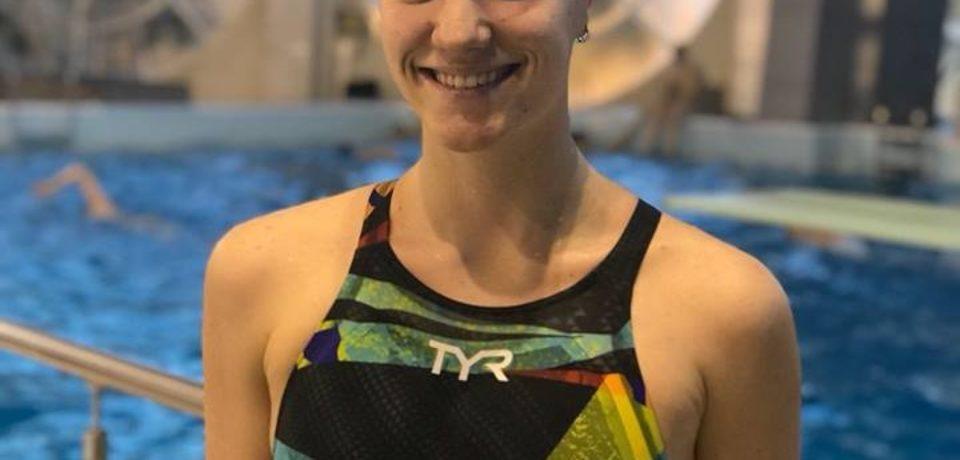 Huszar Ingrid de Crisul Oradea, pe podium la Gimnaziada de natatie din Maroc