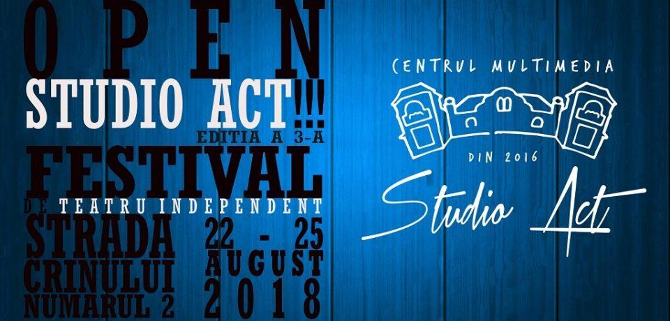 Iubitorii de teatru, invitați la Festivalul OPEN STUDIO ACT!!!