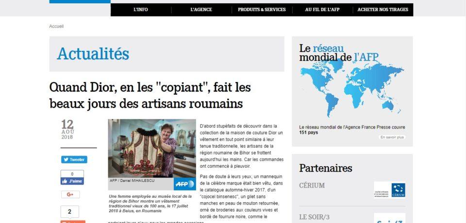"""Povestea """"cojocului binsenesc"""" transmisa in toata lumea de Agentia France Presse. Video"""