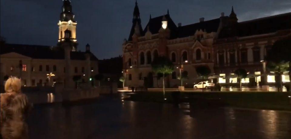 Un clujean a filmat posibila cauza a incendiului de la Palatul Episcopal. VIDEO
