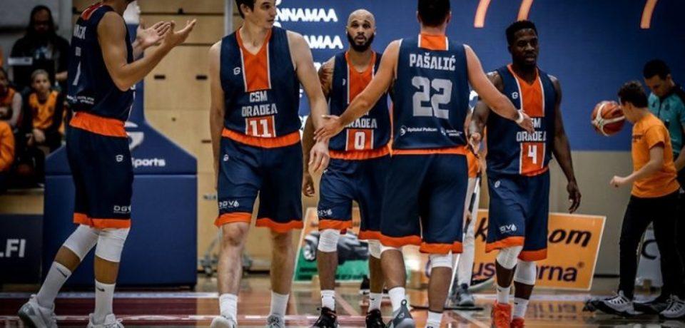 Baschetbaliştii orădeni au cedat în prima manșă a turului inaugural din Basketball Champions League