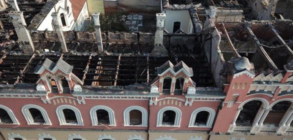 A inceput curatenia in Palatul Episcopal Greco- Catolic