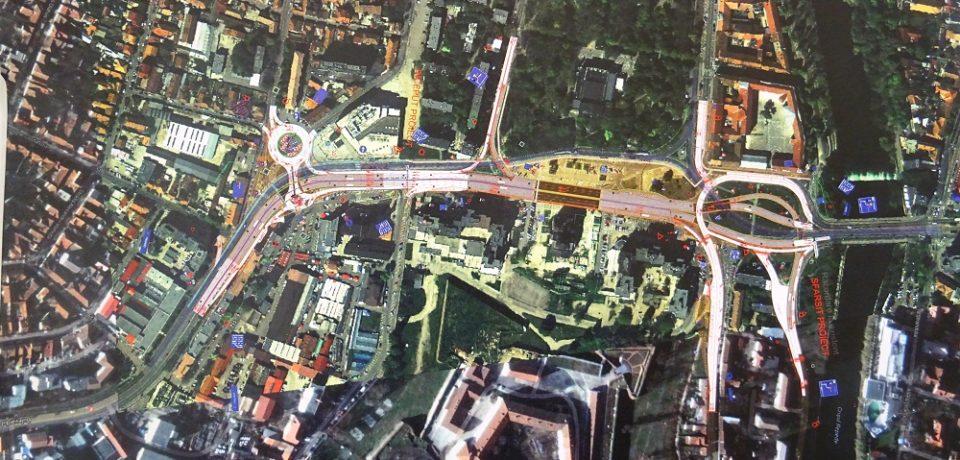 Trafic reorganizat în zona Pieței Gojdu: cinci pasaje subterane, spațiu pietonal între Parcul 1 Decembrie și Cetate