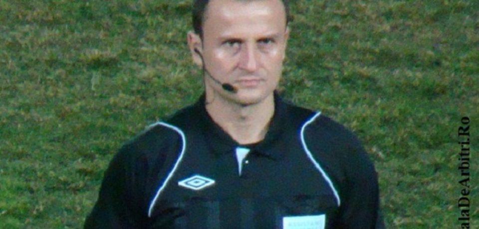 Octavian Şovre, arbitru asistent la partida dintre Internazionale Milano şi Eintracht Frankfurt