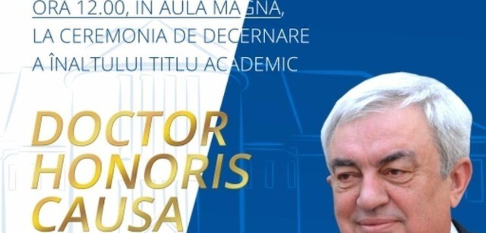 Ceremonie de decernare a titlului onorific Doctor Honoris Causa la Universitatea Oradea
