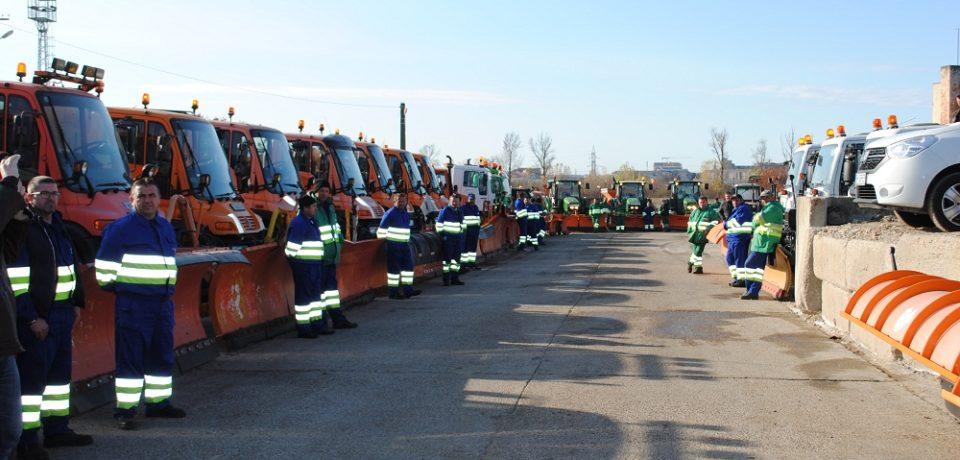 Utilajele de deszăpezire ale RER sunt pregătite pentru sezonul de iarnă