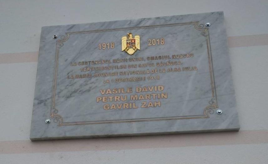 Satul Bălnaca și-a cinstit eroii unioniști
