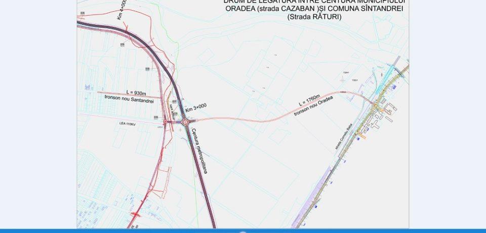 Noul drum de legătură între Oradea și Sântandrei va fi inaugurat cu 2 luni înainte de termen
