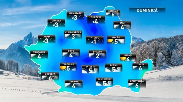 Prognoza meteo actualizată pentru următoarele două zile
