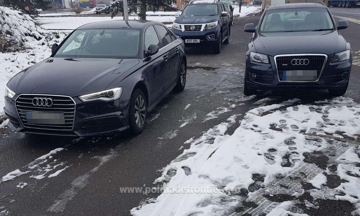 Trei autoturisme căutate de autorităţi, descoperite la Borş