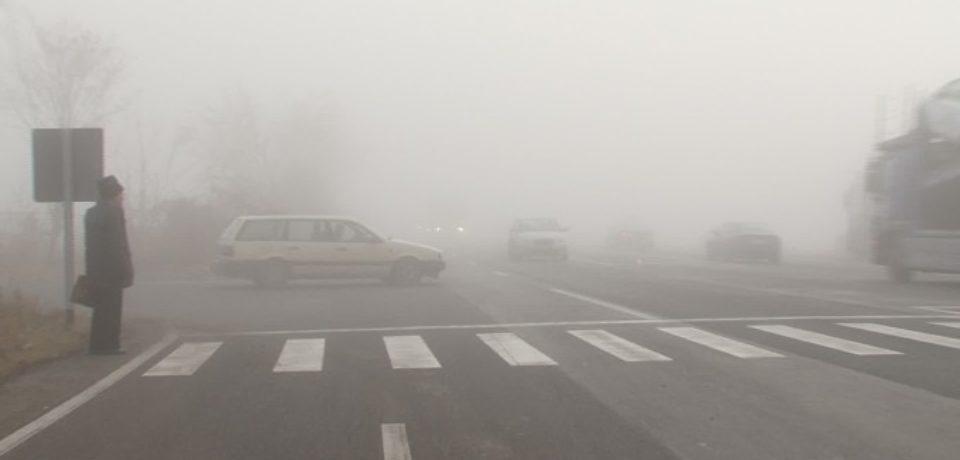 Cod galben de ceaţă şi vizibilitate redusă în Bihor. Vezi unde