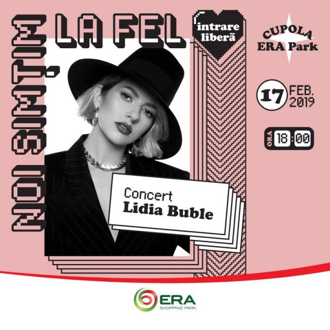 Lidia Buble concertează la ERA Park Oradea