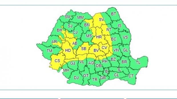 Avertizare METEO: ninsori, ploi și vânt puternic. Parte din Bihor va fi afectat