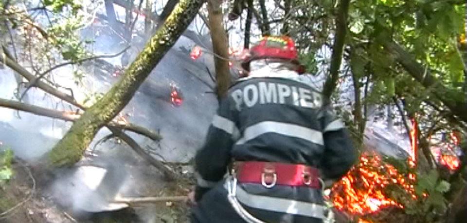 Duminica de foc. 13 incendii produse in Bihor in doar 10 ore