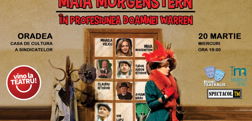 Maia Morgenstern aduce în Oradea o piesă de teatru interzisă vreme de 32 de ani