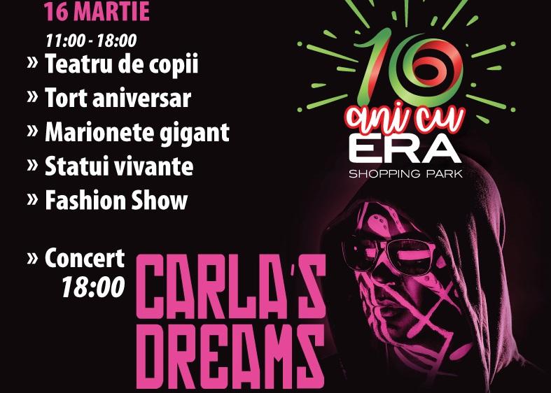 Concert Carla's Dreams, statui vivante și… marionete gigant, la ERA Park Oradea!