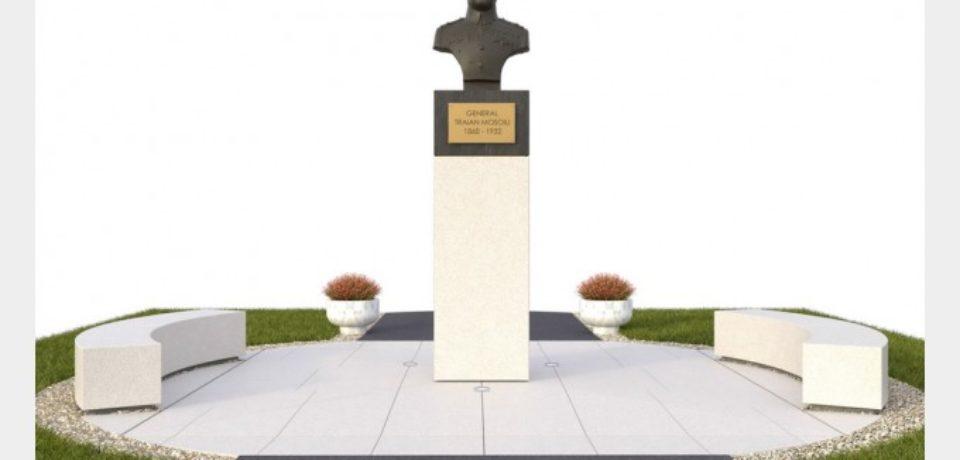 Au demarat lucrările de reabilitare a bustului Generalului Traian Moșoiu