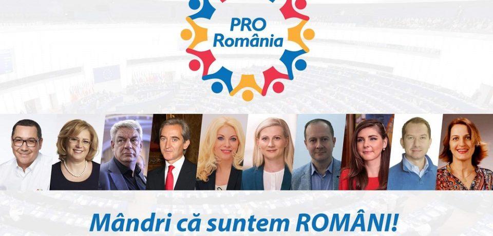 Pro Romania s-a prezentat în fața electoratului cu cei mai buni candidați pentru alegerile europarlamentare. Comunicat