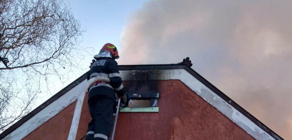 Incendiu în Salonta