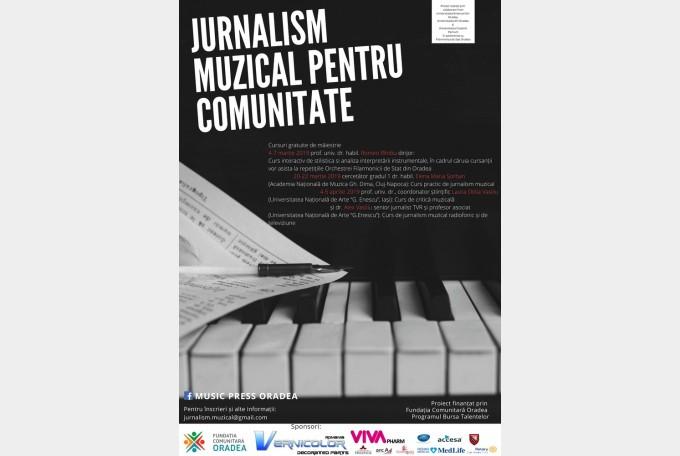 """Start pentru proiectul """"Jurnalism Muzical pentru comunitate"""""""