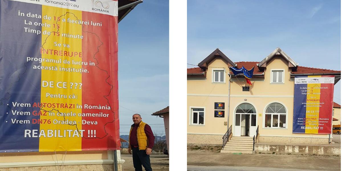 O primarie din Bihor se alatura protestului de 15 minute pentru drumuri si autostrazi