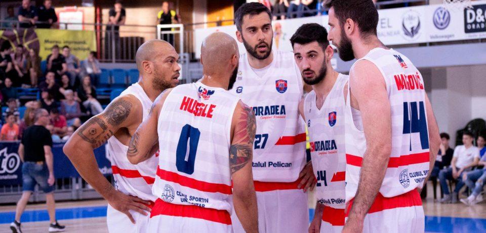 Debut cu dreptul pentru CSM CSU Oradea în semifinalele Ligii Naționale de baschet masculin