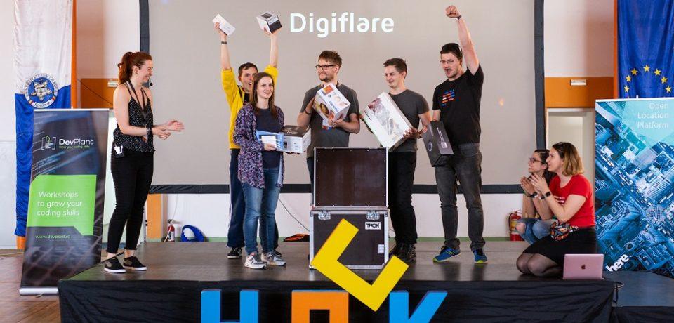 Marele castigator al HackTM este o echipa oradeana cu proiectul Digiflare