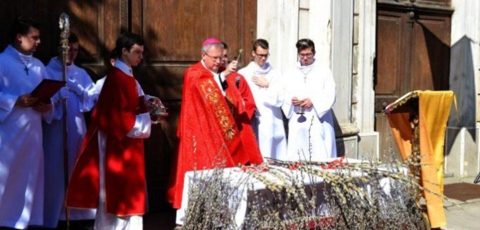 Credincioşii romano-catolici sărbătoresc Floriile