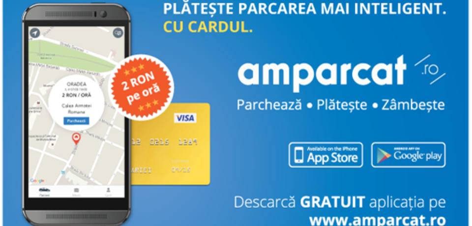 La Oradea funcționează prima aplicație mobilă din România pentru plata parcării cu cardul, direct de pe telefonul mobil