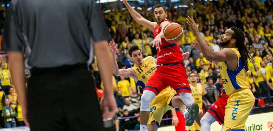Debut cu dreptul pentru CSM CSU Oradea în finala Ligii Naționale de baschet masculin