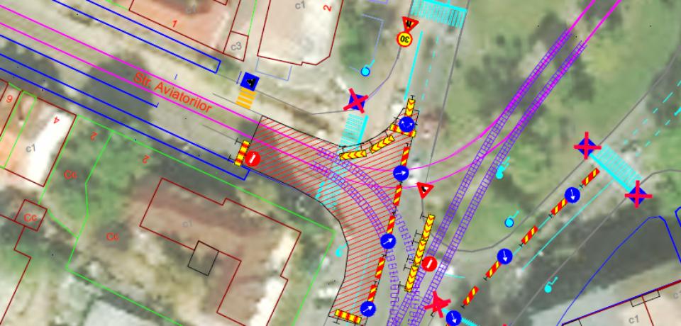 Modificări de circulație în zona de trafic Calea Aradului – str. Făgărașului și legătura cu str. Dimitrie Cantemir