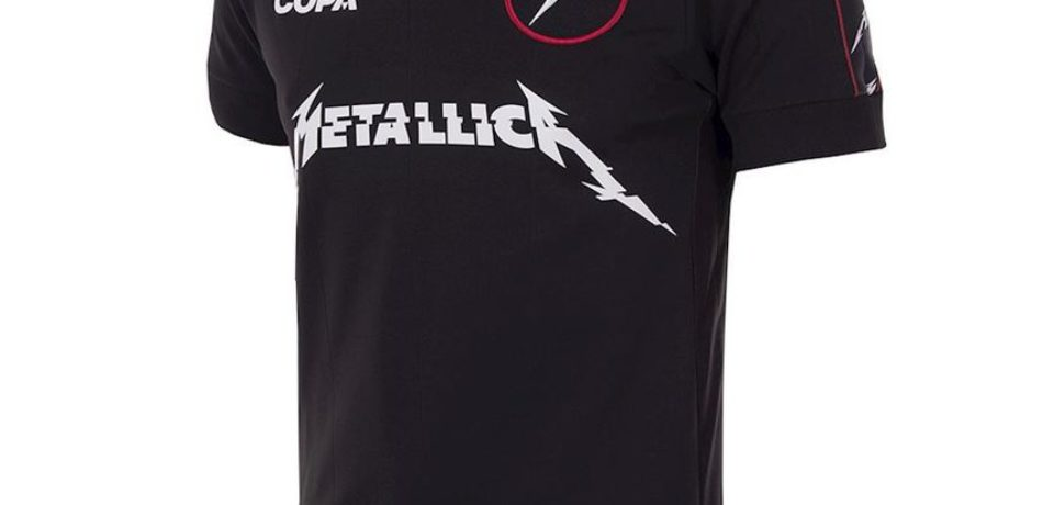 Tricouri de fotbal inscripţionate cu numele Metallica vor fi comercializate la turneul european al formaţiei