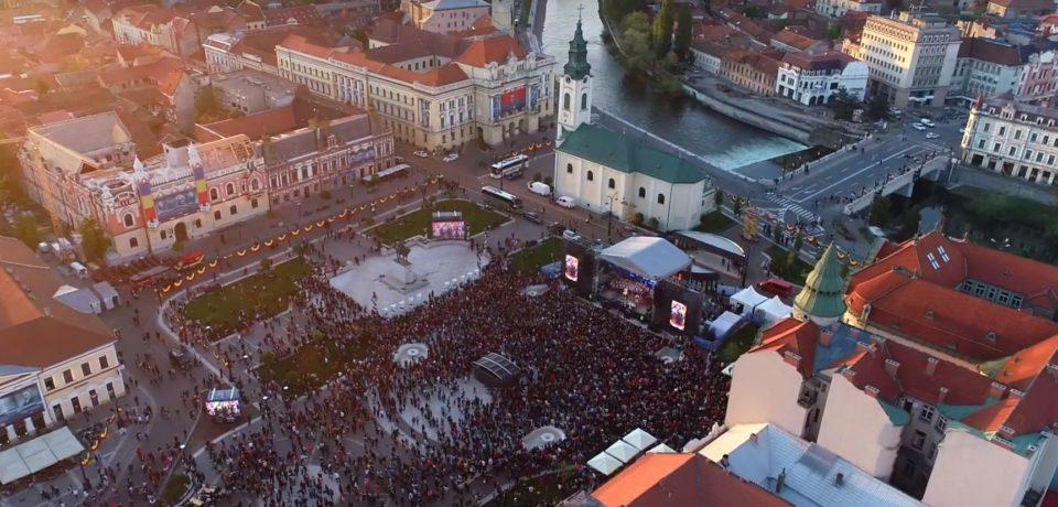Spectaculosul clip al Centenarului. Visit Oradea a publicat filmul evenimentelor din 20 aprilie
