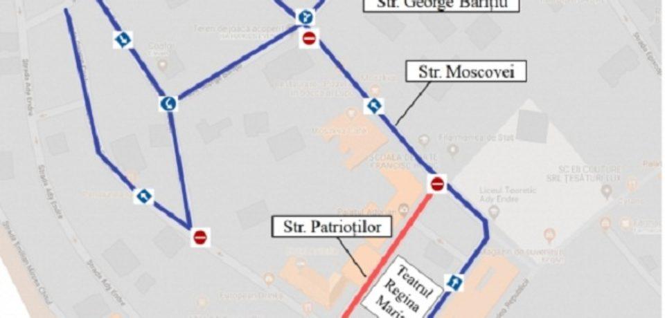 Se restricționează circulația pe câteva artere din Piața Ferdinand