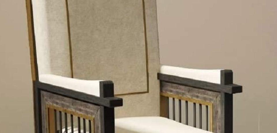 """Tron arhieresc din """"gratiile închisorilor"""", construit pentru Papa Francisc"""