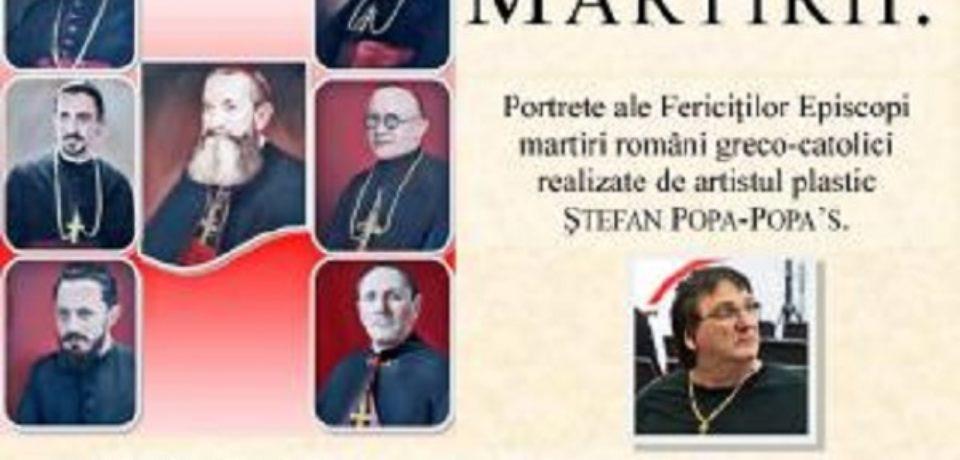 """Vernisajul expoziţiei ,,Martirii"""" a artistului Ştefan Popa-Popa's, la Biblioteca Judeţeană """"Gheorghe Şincai"""""""