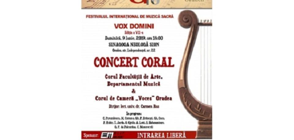 Concert coral de muzică sacră la Sinagoga Neologă Sion