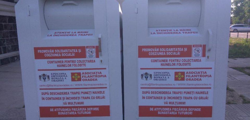 Containere pentru colectare haine în Oradea. Comunicat