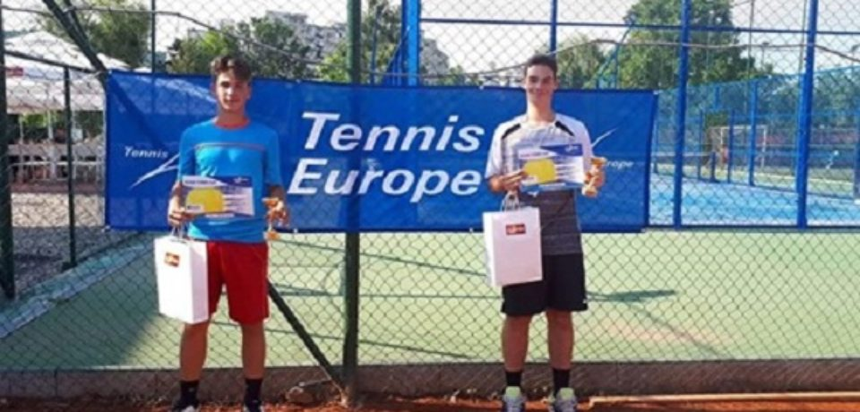 Vladimir Cuc și Ion Arcasa Straciuc au câștigat proba masculină de dublu la Aegon Junior Open 2019